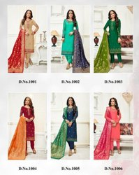 Designer Georgette With Heavy Embroidery Worked Suits