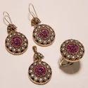 Round Copper Turkish Pendants Set