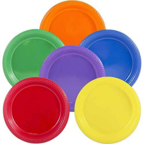 Plastic Red u0026 Orange Round Colored Dinner Plates  sc 1 st  IndiaMART & Plastic Red u0026 Orange Round Colored Dinner Plates Rs 56 /set | ID ...