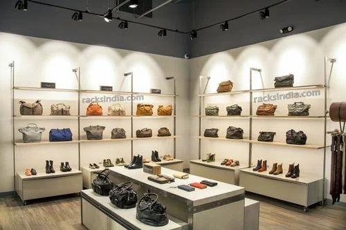 Handbag Display Stainless Steel Stand Rack Bag Purse Shelf Hanger Home Store