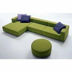 Wooden(Frame) 4 Seater Corner L Shape Sofa Set, For Home