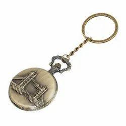 Metal London Bridge Metal Pocket Watch Keychain