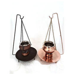 Copper & Smokey Copper Hanging Handi Set