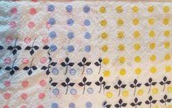 Cotton Seersucker Prints On Saree