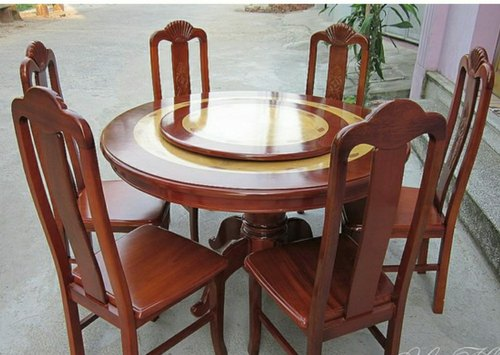 7 Round Designer Wooden Dining Table Set For Home Rs 45000 Set Id 21780291230
