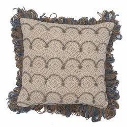 Ethnic Printed Embroidered Cotton Cushion Cover
