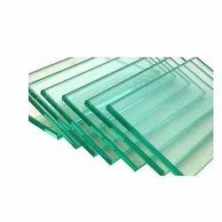 Transparent Toughened Glass, Shape: Flat