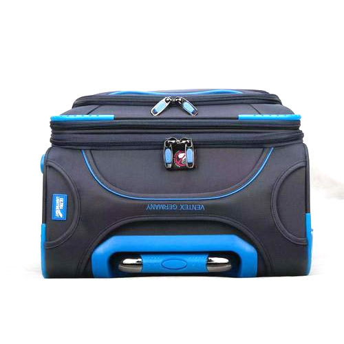 f9023d87bea0 Black And Blue Polyester Ventex Trolley Bag