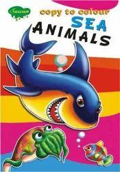 Copy To Colour Sea Animals