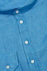Blue Party wear French Collar Linen Shirt