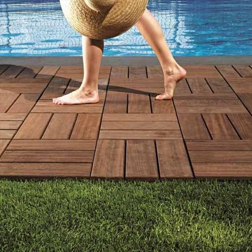 Patio Wood Deck Tiles