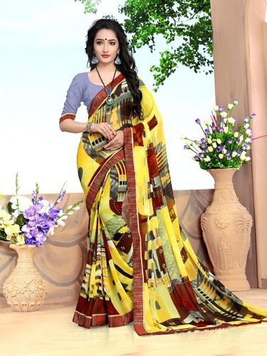 5abc6fe8ca New Gorgeous Multi Color Printed Georgette Saree at Rs 999 /piece ...