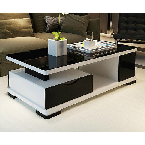 Charmant Black And White Center Table