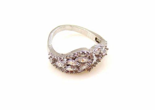 3614fcdf9 Kumar Jewels Silver Beautiful CZ Finger Ring, Rs 500 /piece | ID ...