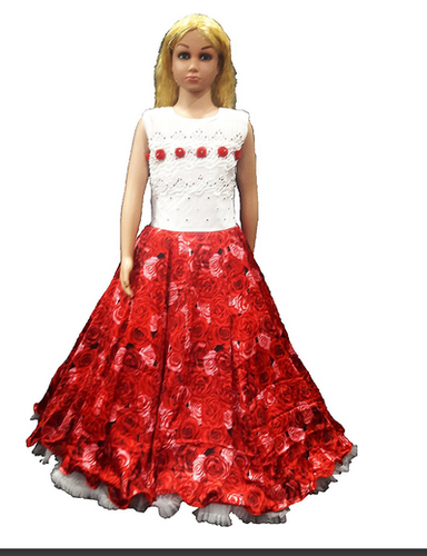 a385bb9be Net Girls Red Roses Gown
