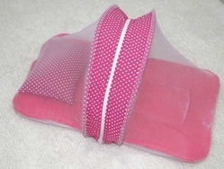 Pink Cotton Baby Bedding With Mosquito Net