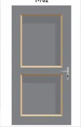 Polished T-705 Grey Solid Panel PVC Door for Home