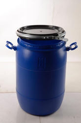 Red HDPE 55 Liters Open Top Drum, Capacity: 20-60 L