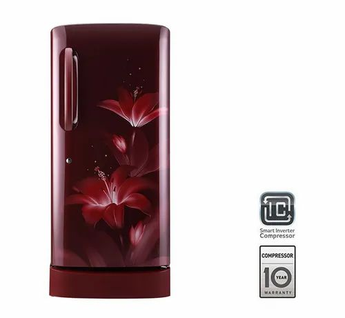 Rose Red 5 Star LG Single Door Refrigerator GL-D241ARGY