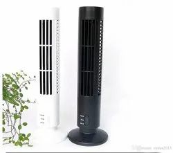 2.5 W Black & White USB Tower Fan