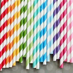 Colored Paper Straw
