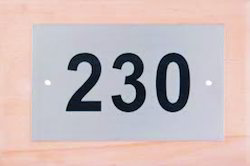 Stainless Steel Etching Name Plate