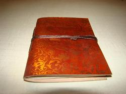 Printed Handmade Leather Journal