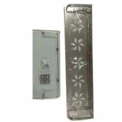 Stainless Steel Rectangular Designer Bathroom Shelf, Size: 5 X 10 Inch
