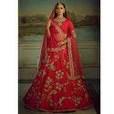 Wedding Designer Malai Satin Lehenga
