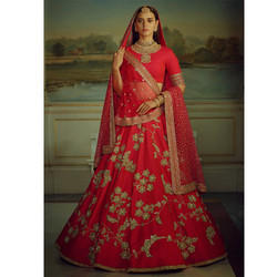Wedding Designer Malai Satin Lehenga Choli