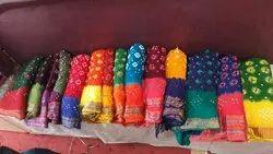 Pure Cotton Hand Bhandez Cotton Saree