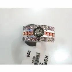 Multi Sapphire Engagement Ring