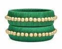 Dark Green Silk Thread Bangle
