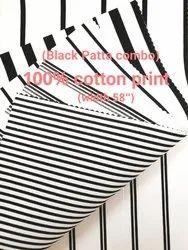 Black Print Patta Fabrics