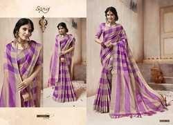 Party Purple Ethnic Plain Saree