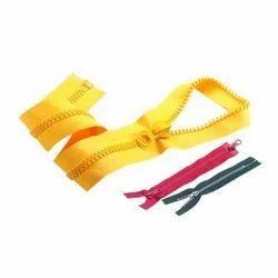 Yellow Plastic And Cotton Single Tape Plastic Zipper