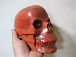 Life Size LARGE Gemstone Skulls in Red Aventurine