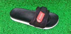 Fashionable Black Mens Flip Flop Slippers, Size: 6x10