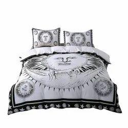Black & White Duvet Cover Bohemian Cotton Quilt