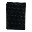 Black Cotton Ikat Fabric
