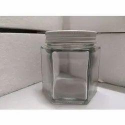 150 Ml Hexagonal Glass Jar