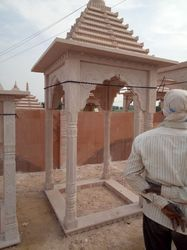 Pink Beige Stone Temple