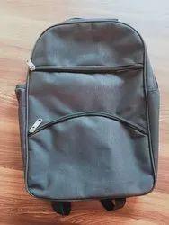 Black Polyester Backpack Bag, Bag Capacity: 10-15 Litre