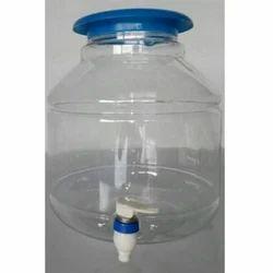 Transparent Plastic Dispenser Jar, Capacity: 8L