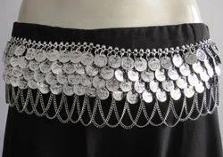 Tribal Belly Dance Wear Coin Charm Chain BELT Jewelry