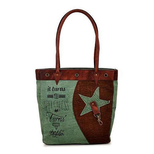 40236bcaa1 Daphne Graphic Printed Star Design Canvas Printed Bags