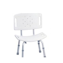 Stainless Steel Back Support Bath Bench, Capacity: 50-100 kg