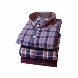 SRW Kevin King Mens Collar Neck Cotton Check Shirt