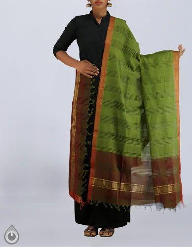 69fafe06ad Plain Pure Mangalagiri Cotton Dupatta, Rs 639 /set, Unnati Silk ...