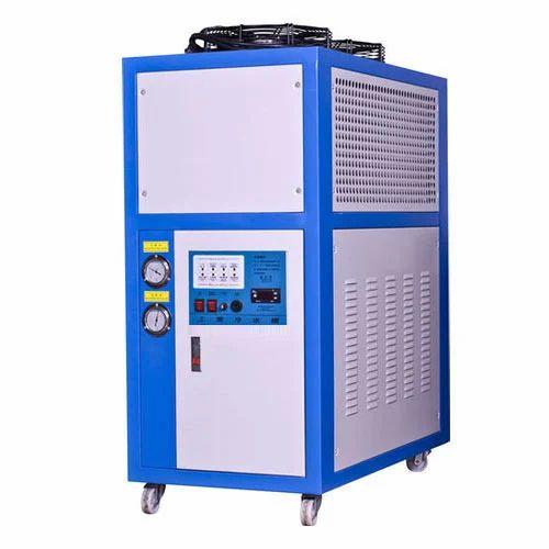 Blue Mild Steel Water Chiller Systems, Rectangular Box, 5-20
